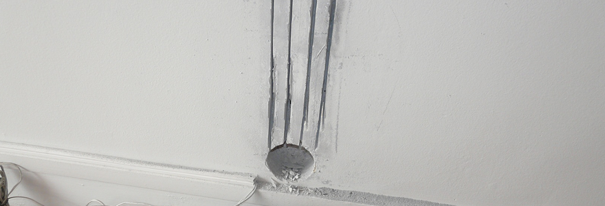 saignée dans un mur